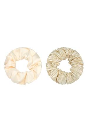 Σετ των 2 σατέν scrunchies - Χρυσό