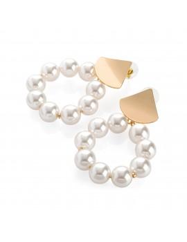 Στρογγυλά σκουλαρίκια με πέρλες