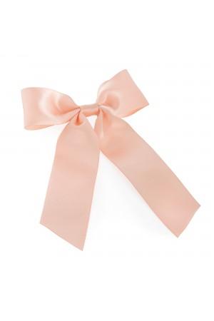 Ροζ φιόγκος μαλλιών με κλιπ