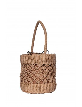 Τσάντα καλάθι - Καμηλό