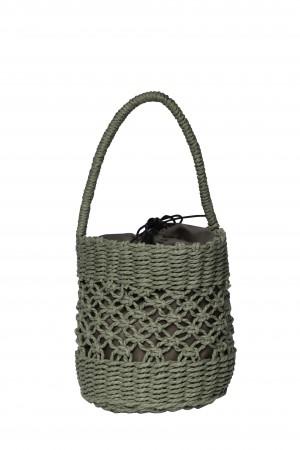 Τσάντα καλάθι - Χακί