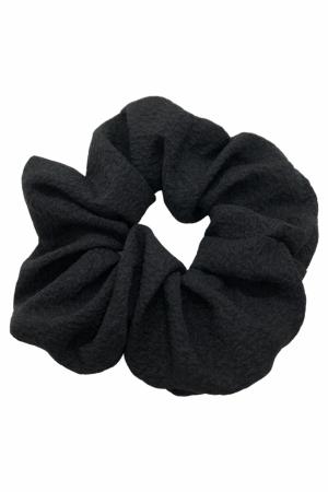 Γκοφρέ scrunchie - Μαύρο