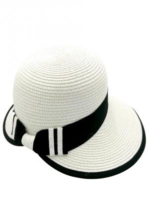 Καπέλο με κορδέλα - Λευκό