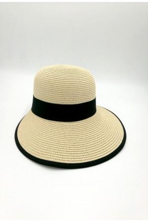 Καπέλο με κορδέλα - Μπεζ