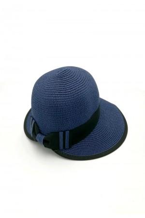Καπέλο με κορδέλα - Μπλε σκούρο