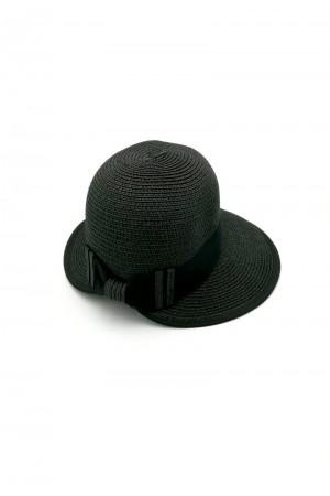 Καπέλο με κορδέλα - Μαύρο