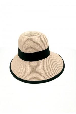 Καπέλο με κορδέλα - Nude