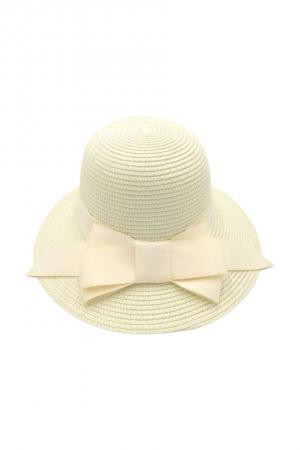 Καπέλο με φιόγκο- Εκρού