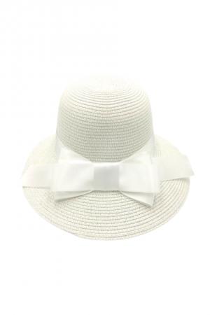 Καπέλο με φιόγκο- Λευκό