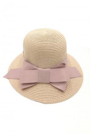 Καπέλο με φιόγκο- Ροζ