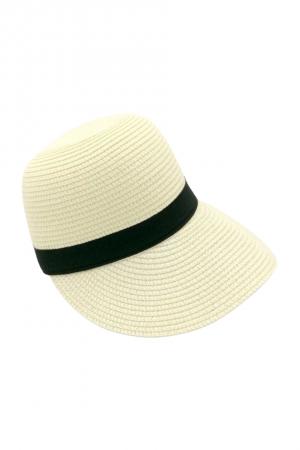 Καπέλο τζόκευ με αντίθεση - Εκρού
