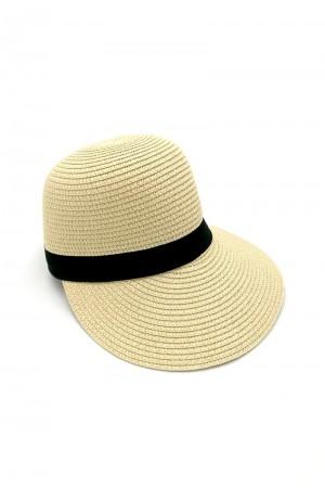 Καπέλο τζόκευ με αντίθεση - Μπεζ