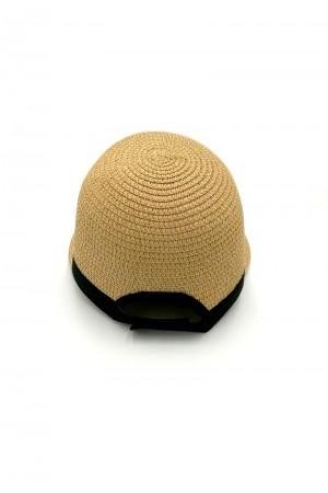 Καπέλο τζόκευ με αντίθεση - Καμηλό