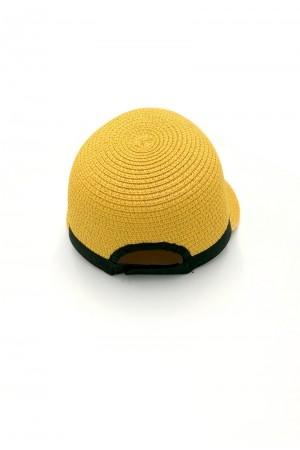 Καπέλο τζόκευ με αντίθεση - Κίτρινο
