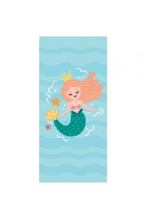 Γαλάζια πετσέτα θαλάσσης με γοργόνα, 150*70