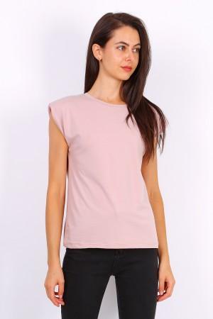 Ροζ t-shirt με βάτες