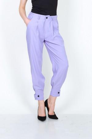Υφασμάτινο παντελόνι - Λιλά