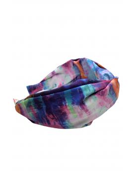 Στέκα tie dye με χαμηλό κόμπο - Μωβ