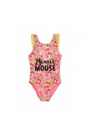 Disney Minnie Mouse Παιδικό Μαγιό ολόσωμο ροζ