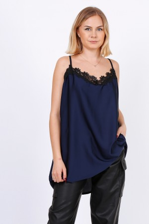 Camisole με δαντέλα  - Navy