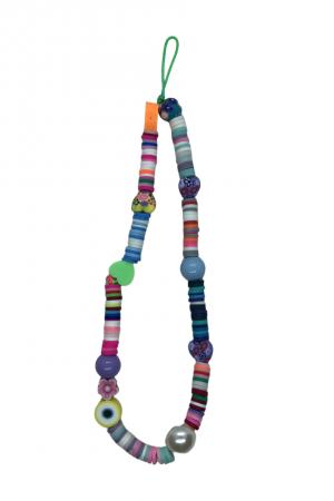 Phone strap πολύχρωμο με ματάκια - Μικρό