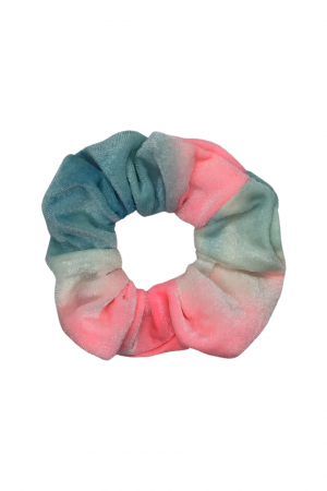 Tie dye βελούδινο scrunchie - Ροζ