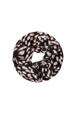 Scrunchie animal print - Μαύρο