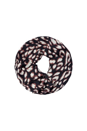 Scrunchie animal print - Μπλε σκούρο