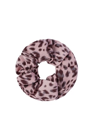 Scrunchie animal print - Ροζ