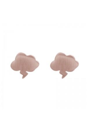 Σκουλαρίκια συννεφάκια επιχρυσωμένα  - Ροζ χρυσό