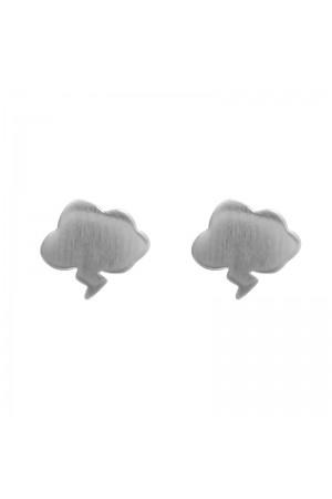 Σκουλαρίκια συννεφάκια επιχρυσωμένα - Ασημί