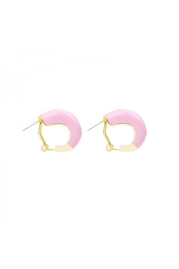 Σκουλαρίκια κρικάκια - Ροζ