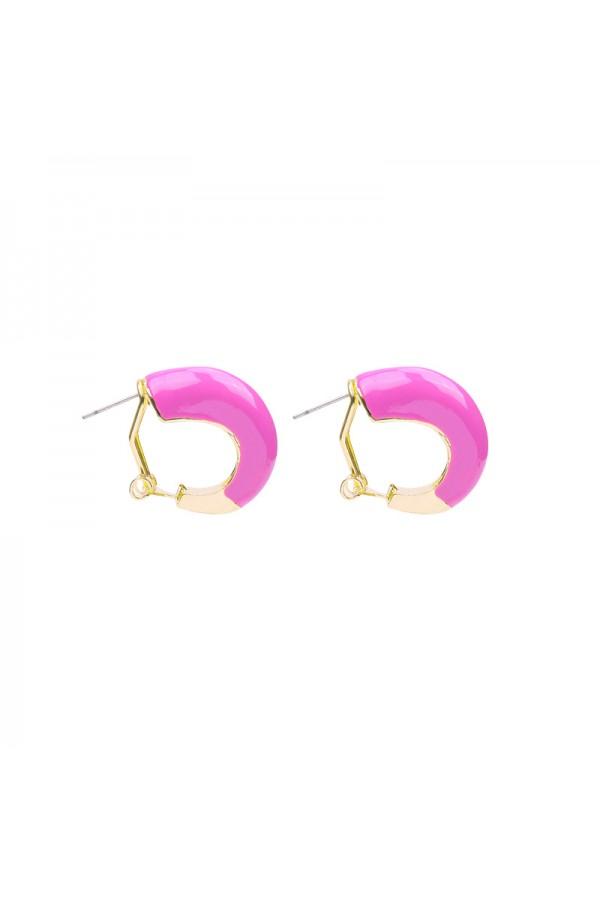 Σκουλαρίκια κρικάκια - Φούξια