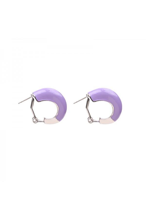 Σκουλαρίκια κρικάκια - Μωβ