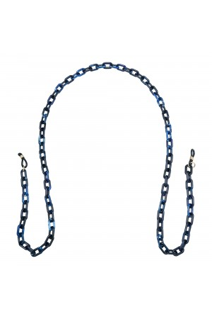 Κοκκάλινη αλυσίδα γυαλιών - Μπλε