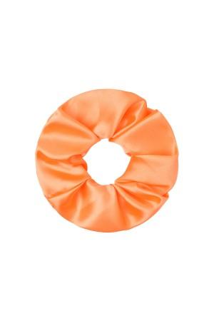 Σατινέ scrunchie - Πορτοκαλί