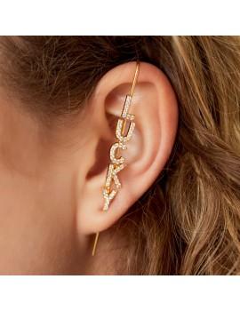 """Ear crawler """"LUCKY"""" - Ασημί"""