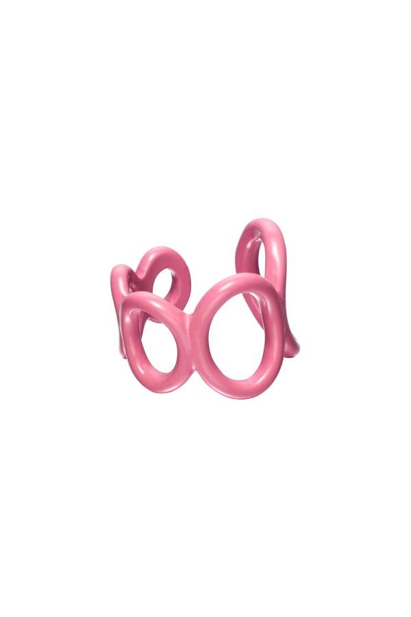 Ροζ candy ring