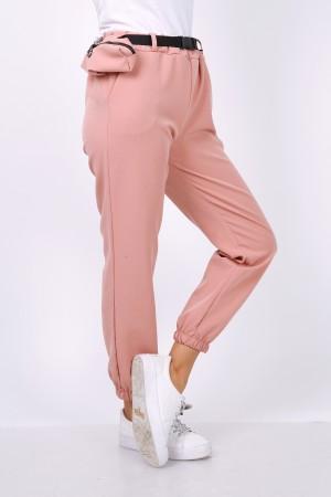 Παντελόνι joggers με τσαντάκι - Ροζέ