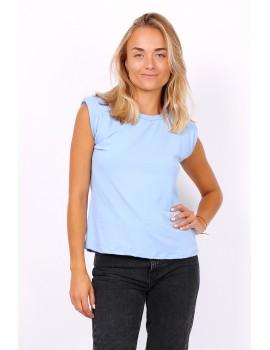 T-shirt με βάτες - Γαλάζιο