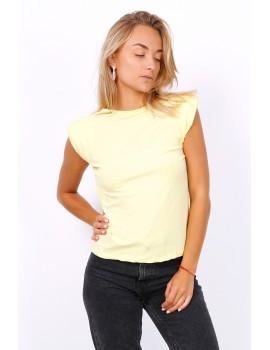 T-shirt με βάτες - Κίτρινο παλ