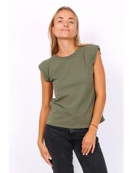 T-shirt με βάτες - Χακί