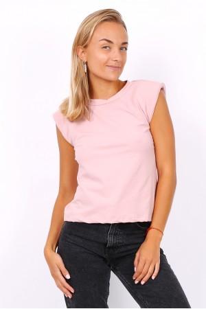 T-shirt με βάτες - Ανοιχτό ροζ