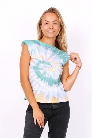 Tie dye t-shirt με βάτες - Βεραμάν